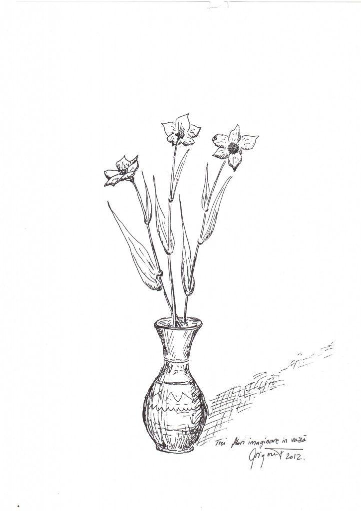 Flori imaginare în vază
