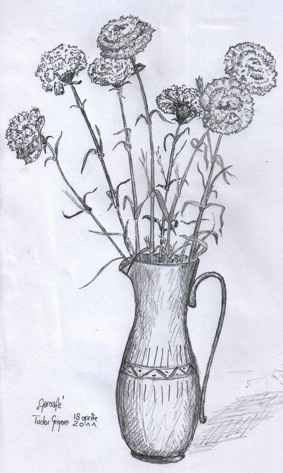 Vaza cu garoafe