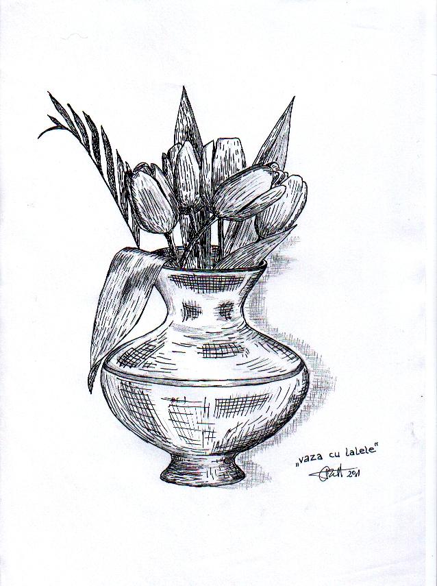 Vaza cu lalele